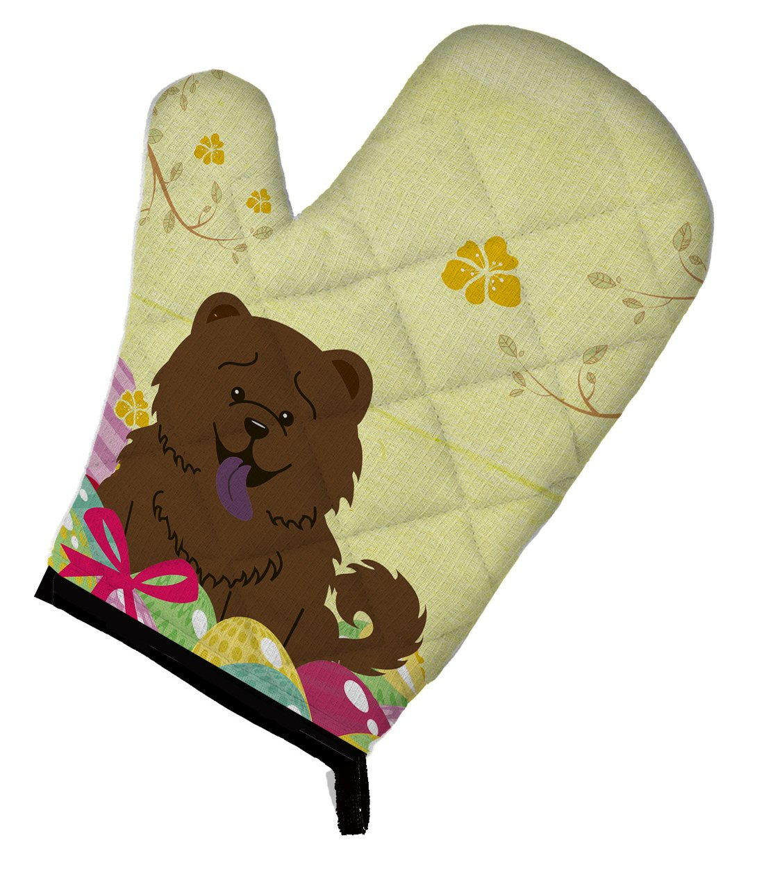 Easter Eggs Chow Chow Chocolate Oven Mitt BB6141OVMT by Caroline's Treasures