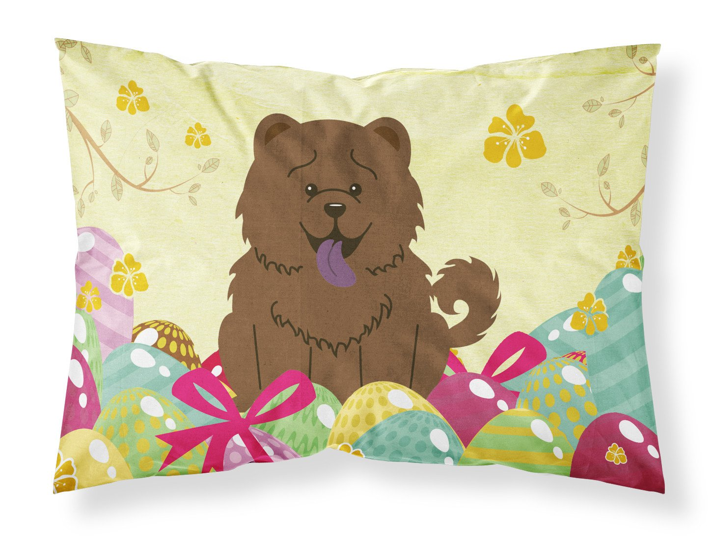 Buy this Easter Eggs Chow Chow Chocolate Fabric Standard Pillowcase BB6141PILLOWCASE
