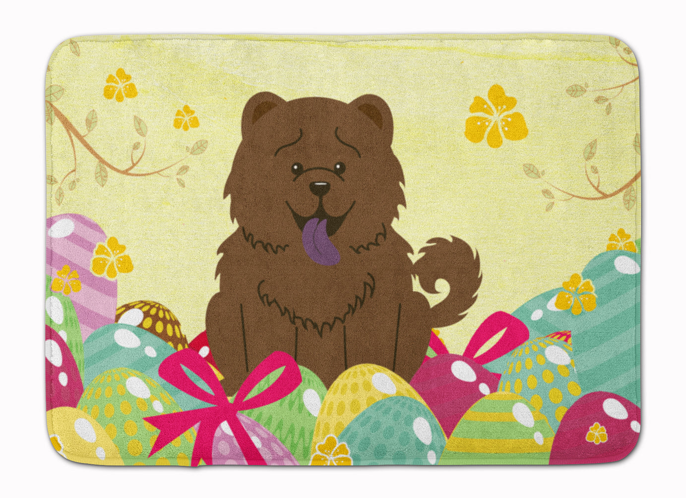 Easter Eggs Chow Chow Chocolate Machine Washable Memory Foam Mat BB6141RUG by Caroline's Treasures