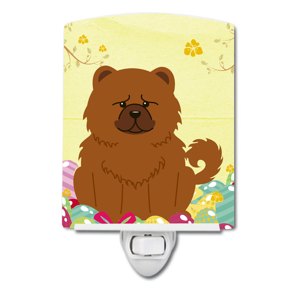 Buy this Easter Eggs Chow Chow Red Ceramic Night Light BB6142CNL