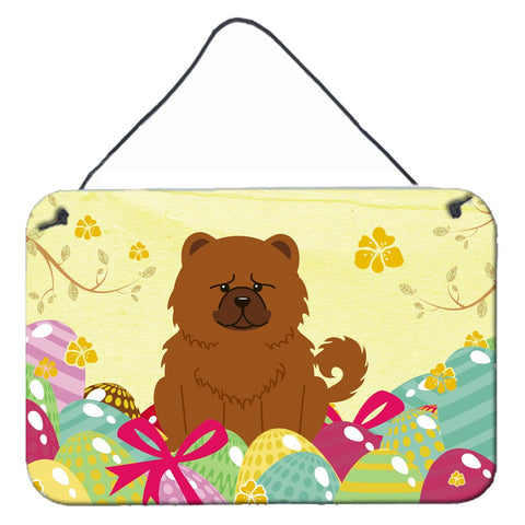 Buy this Easter Eggs Chow Chow Red Wall or Door Hanging Prints BB6142DS812