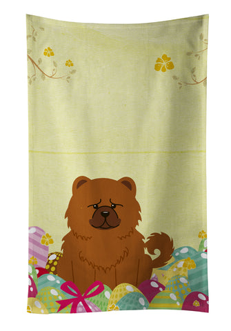 Buy this Easter Eggs Chow Chow Red Kitchen Towel BB6142KTWL