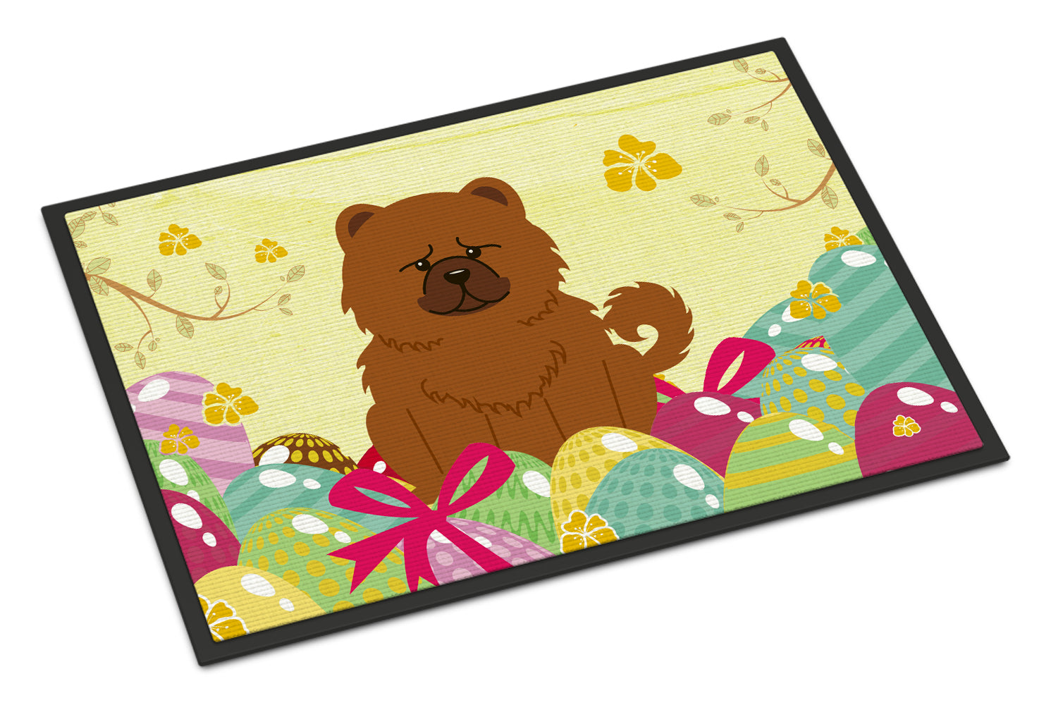 Easter Eggs Chow Chow Red Indoor or Outdoor Mat 18x27 BB6142MAT by Caroline's Treasures