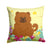Buy this Easter Eggs Chow Chow Red Fabric Decorative Pillow BB6142PW1414