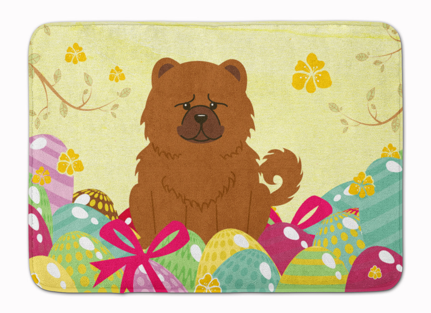Easter Eggs Chow Chow Red Machine Washable Memory Foam Mat BB6142RUG by Caroline's Treasures
