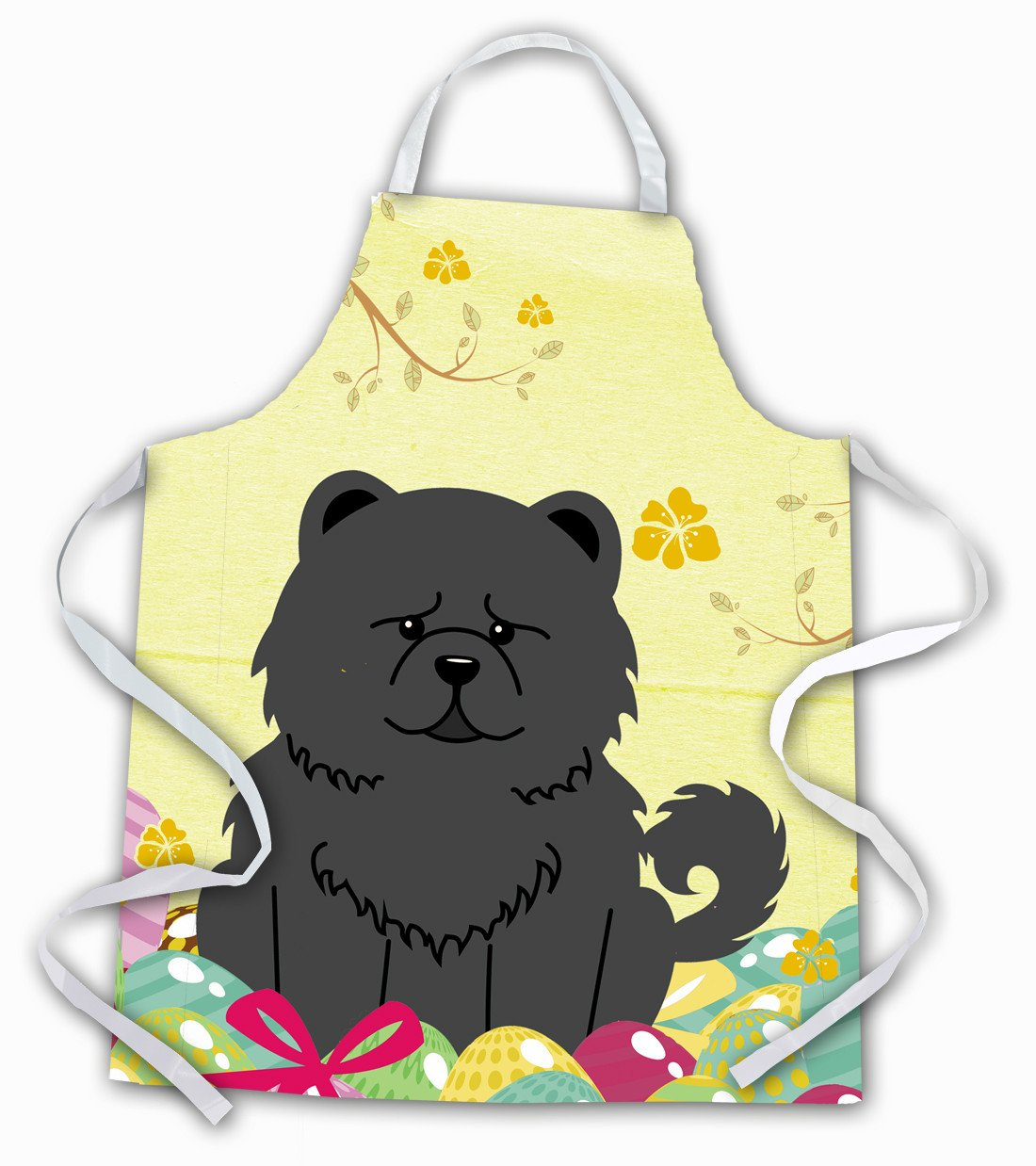 Easter Eggs Chow Chow Black Apron BB6143APRON by Caroline's Treasures