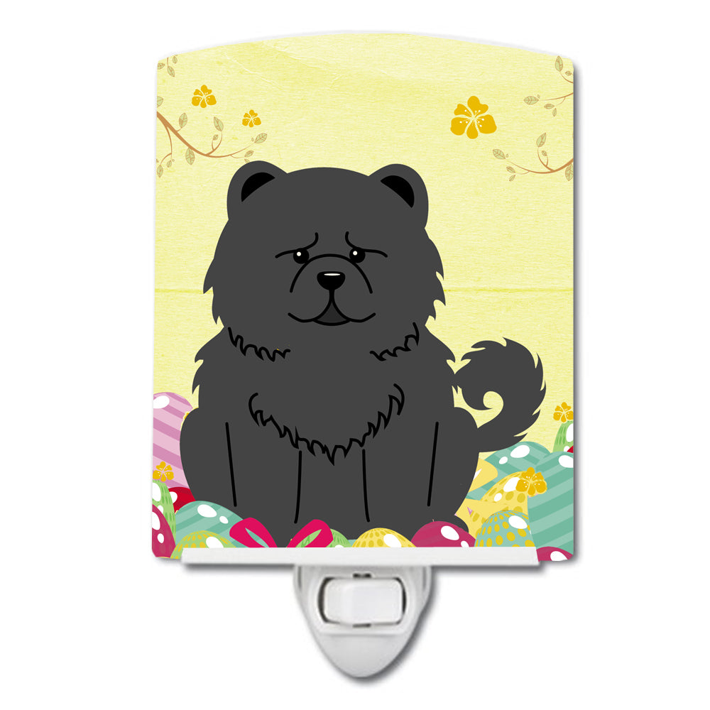Easter Eggs Chow Chow Black Ceramic Night Light BB6143CNL by Caroline's Treasures