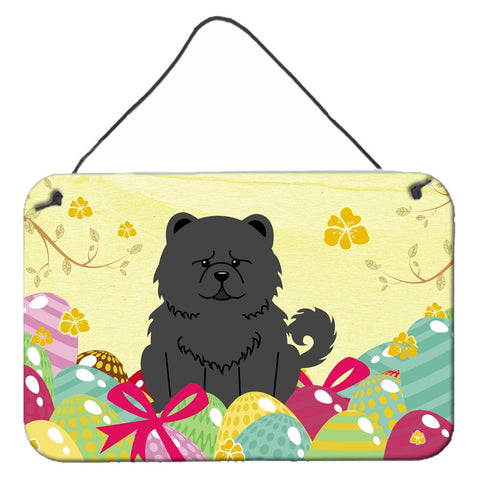 Buy this Easter Eggs Chow Chow Black Wall or Door Hanging Prints BB6143DS812