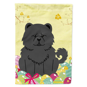 Buy this Easter Eggs Chow Chow Black Flag Garden Size BB6143GF