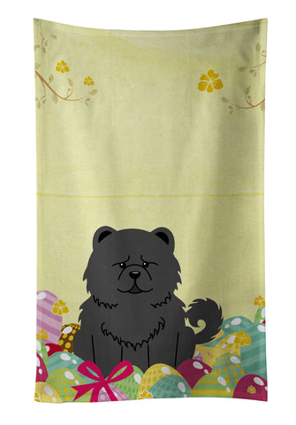 Buy this Easter Eggs Chow Chow Black Kitchen Towel BB6143KTWL