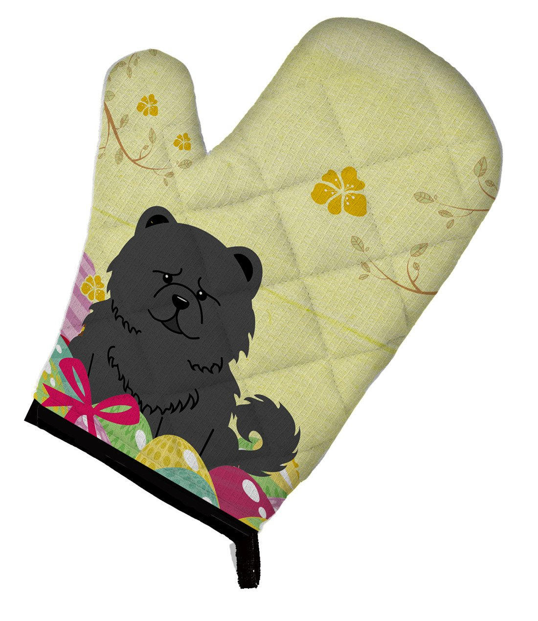 Easter Eggs Chow Chow Black Oven Mitt BB6143OVMT by Caroline's Treasures