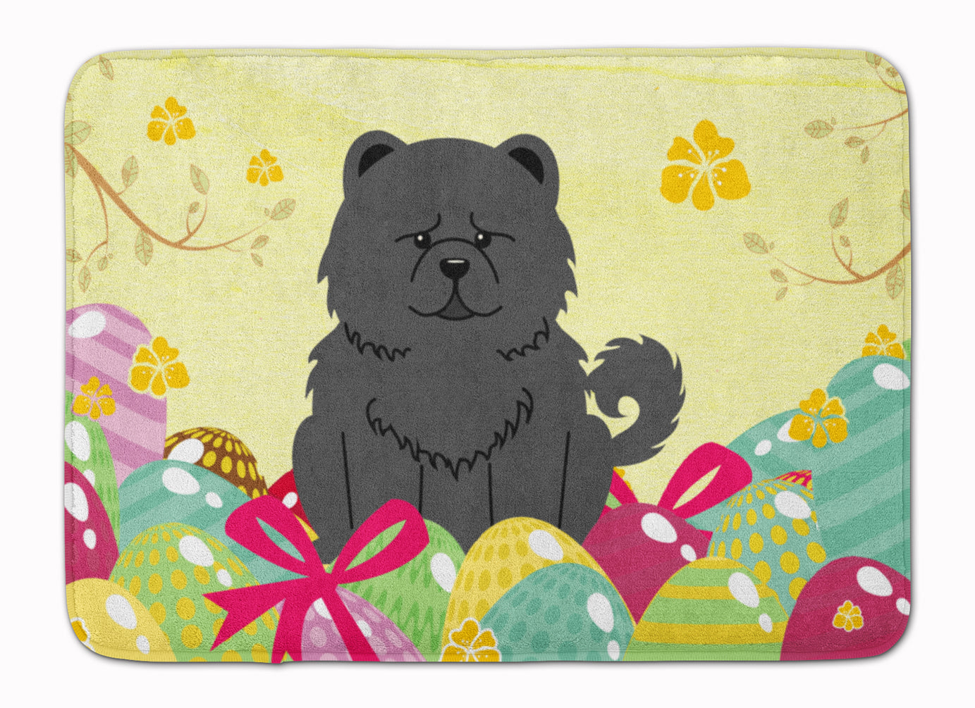 Easter Eggs Chow Chow Black Machine Washable Memory Foam Mat BB6143RUG by Caroline's Treasures