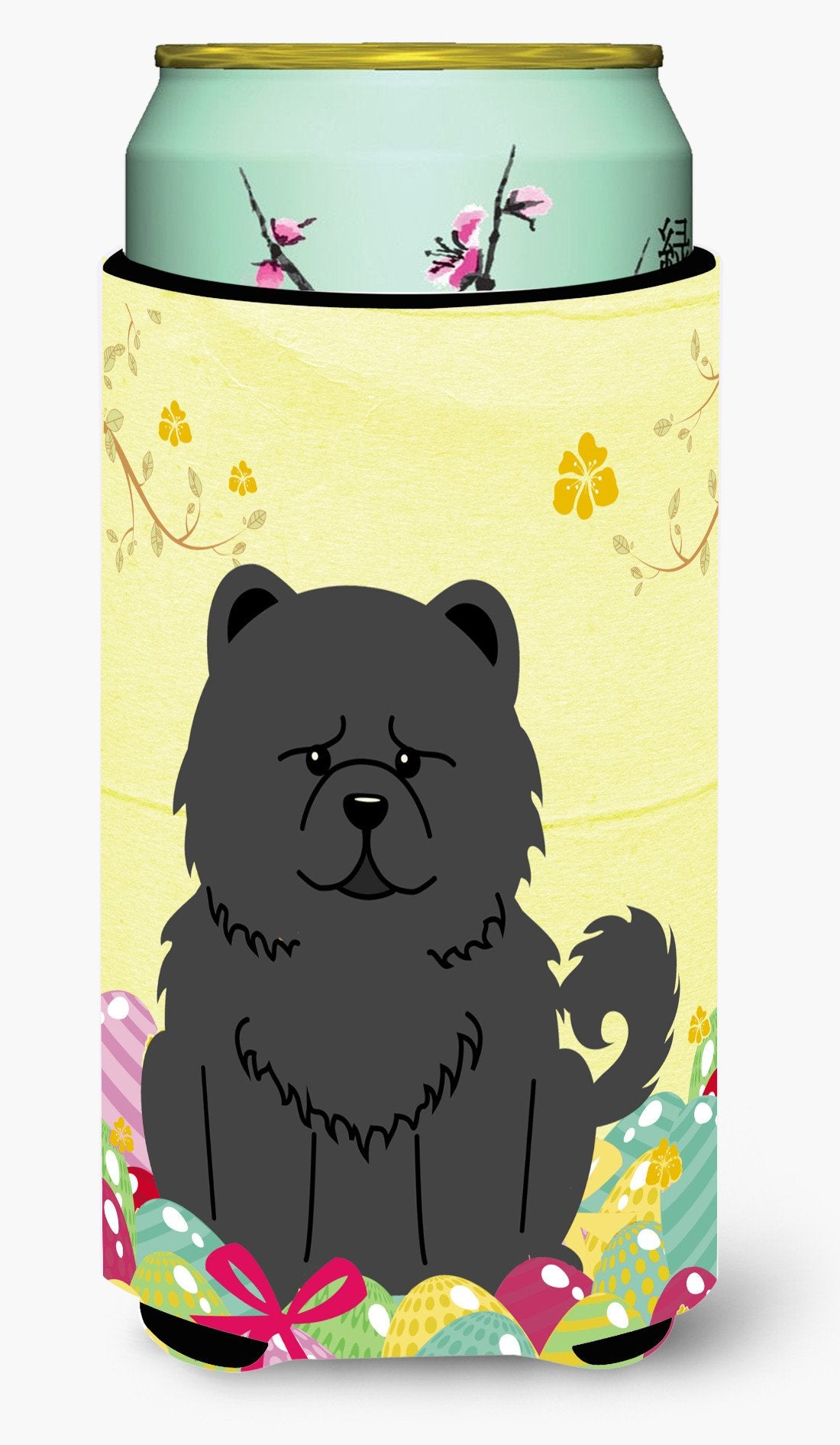 Easter Eggs Chow Chow Black Tall Boy Beverage Insulator Hugger BB6143TBC by Caroline's Treasures