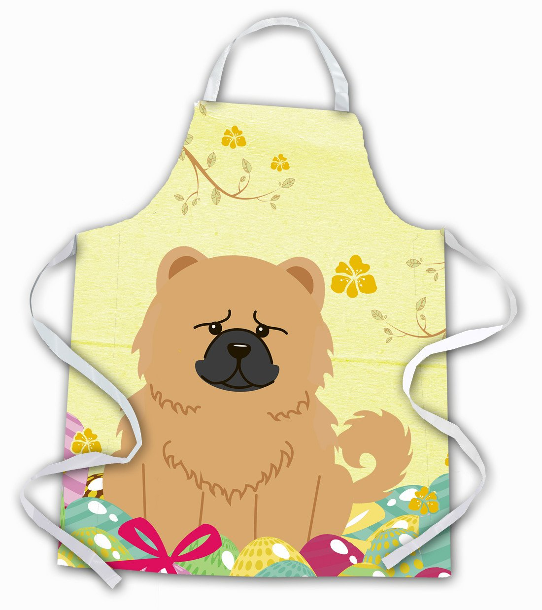 Easter Eggs Chow Chow Cream Apron BB6144APRON by Caroline's Treasures