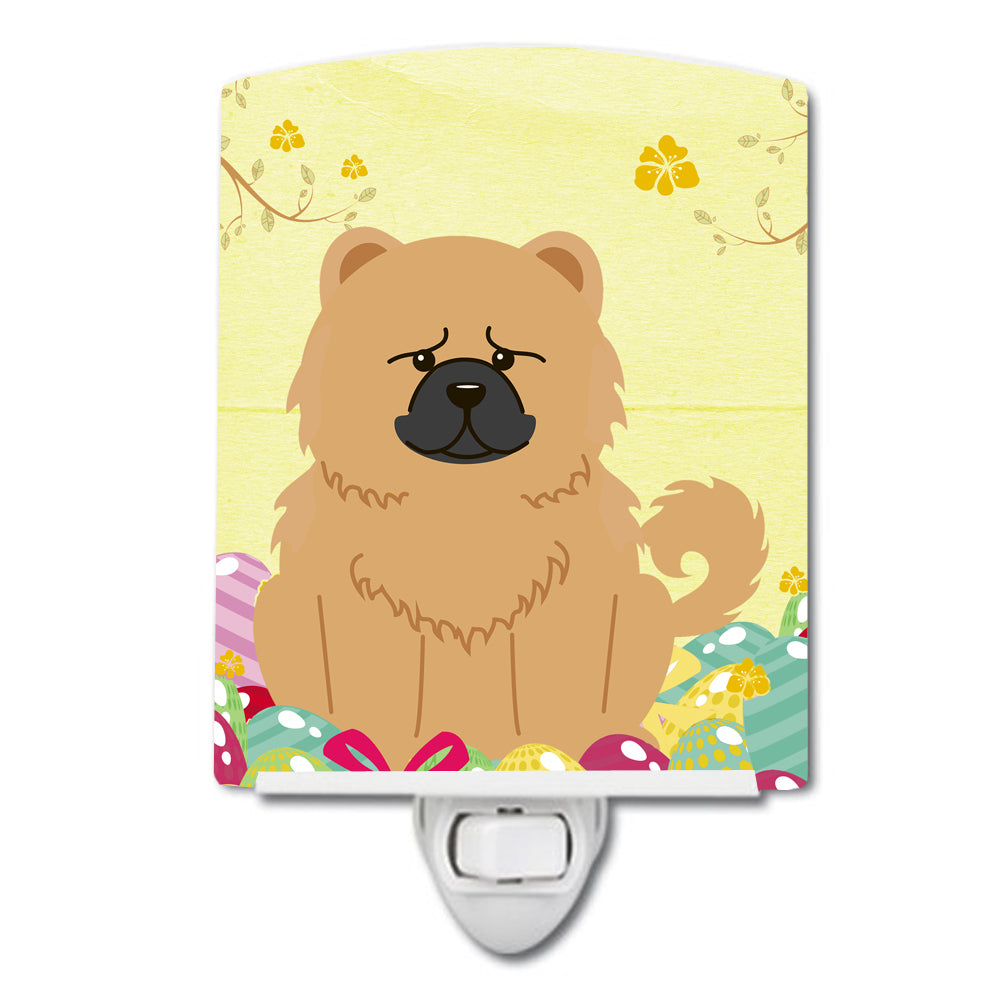 Easter Eggs Chow Chow Cream Ceramic Night Light BB6144CNL by Caroline's Treasures