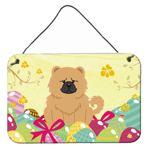Buy this Easter Eggs Chow Chow Cream Wall or Door Hanging Prints BB6144DS812