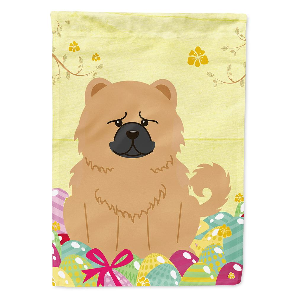 Easter Eggs Chow Chow Cream Flag Garden Size BB6144GF by Caroline's Treasures