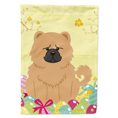 Buy this Easter Eggs Chow Chow Cream Flag Garden Size BB6144GF
