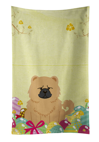 Buy this Easter Eggs Chow Chow Cream Kitchen Towel BB6144KTWL