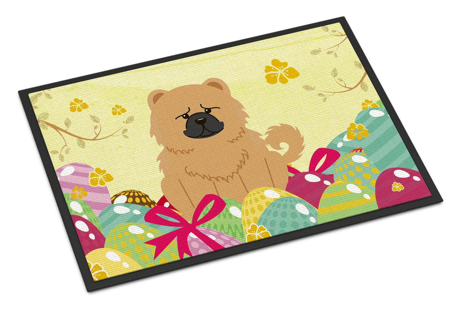 Easter Eggs Chow Chow Cream Indoor or Outdoor Mat 18x27 BB6144MAT by Caroline's Treasures
