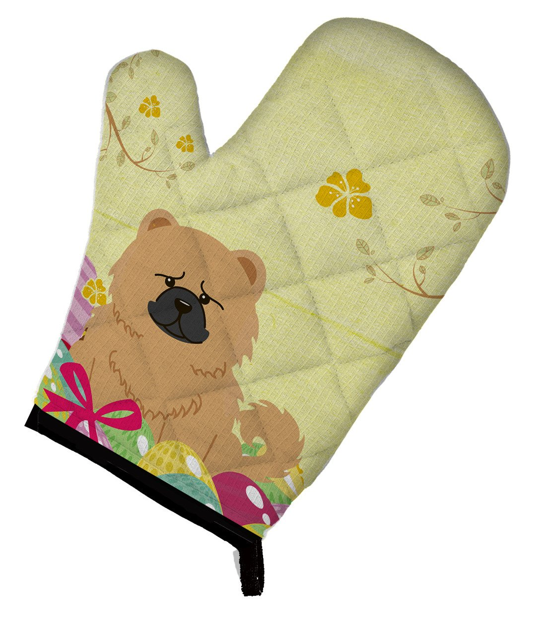Easter Eggs Chow Chow Cream Oven Mitt BB6144OVMT by Caroline's Treasures
