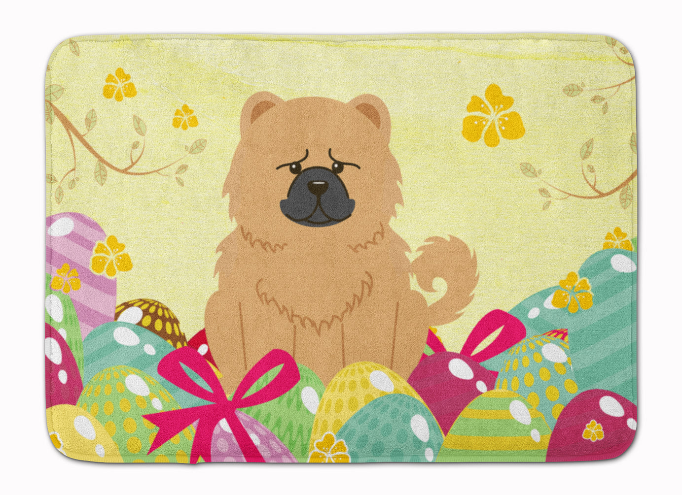 Easter Eggs Chow Chow Cream Machine Washable Memory Foam Mat BB6144RUG by Caroline's Treasures