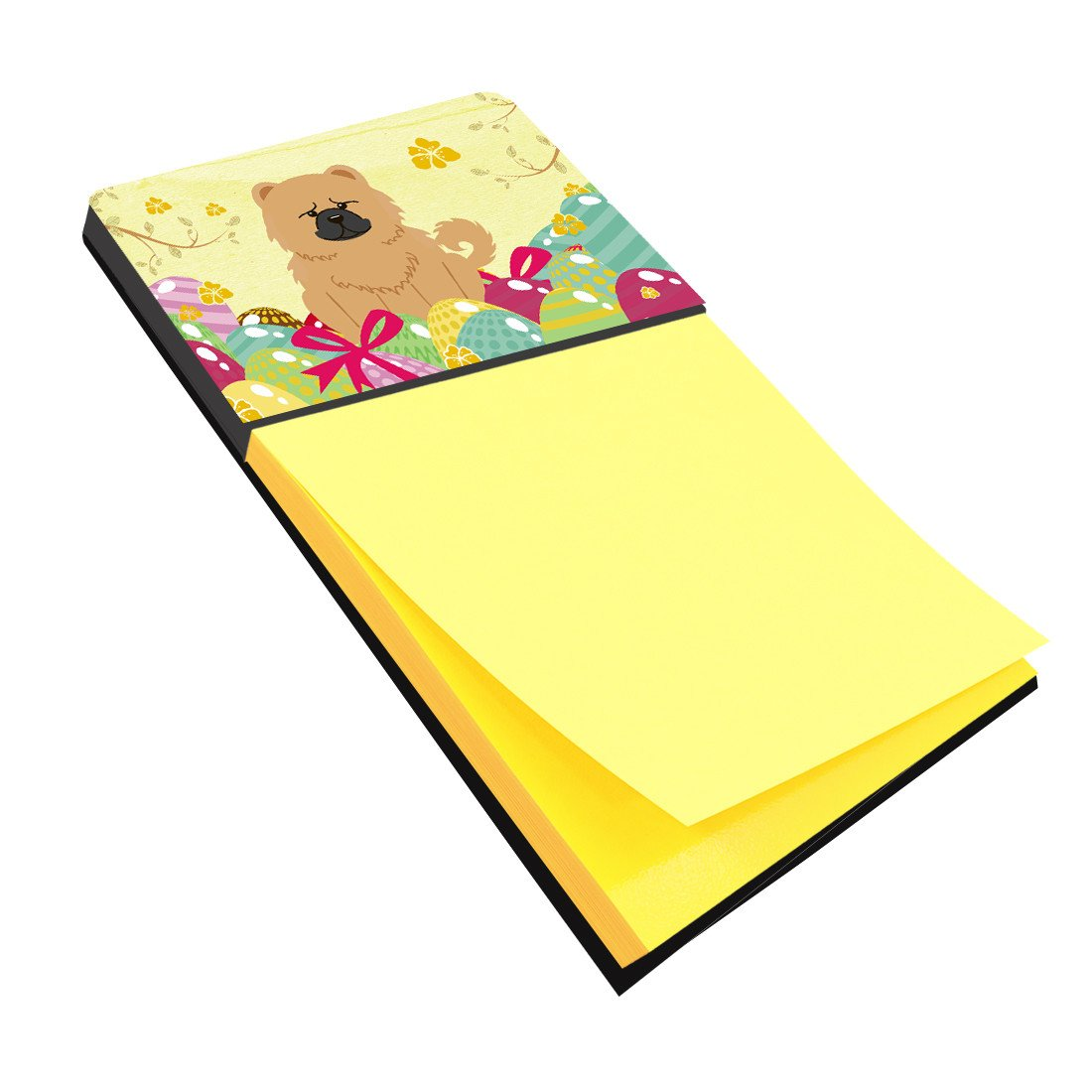 Easter Eggs Chow Chow Cream Sticky Note Holder BB6144SN by Caroline's Treasures