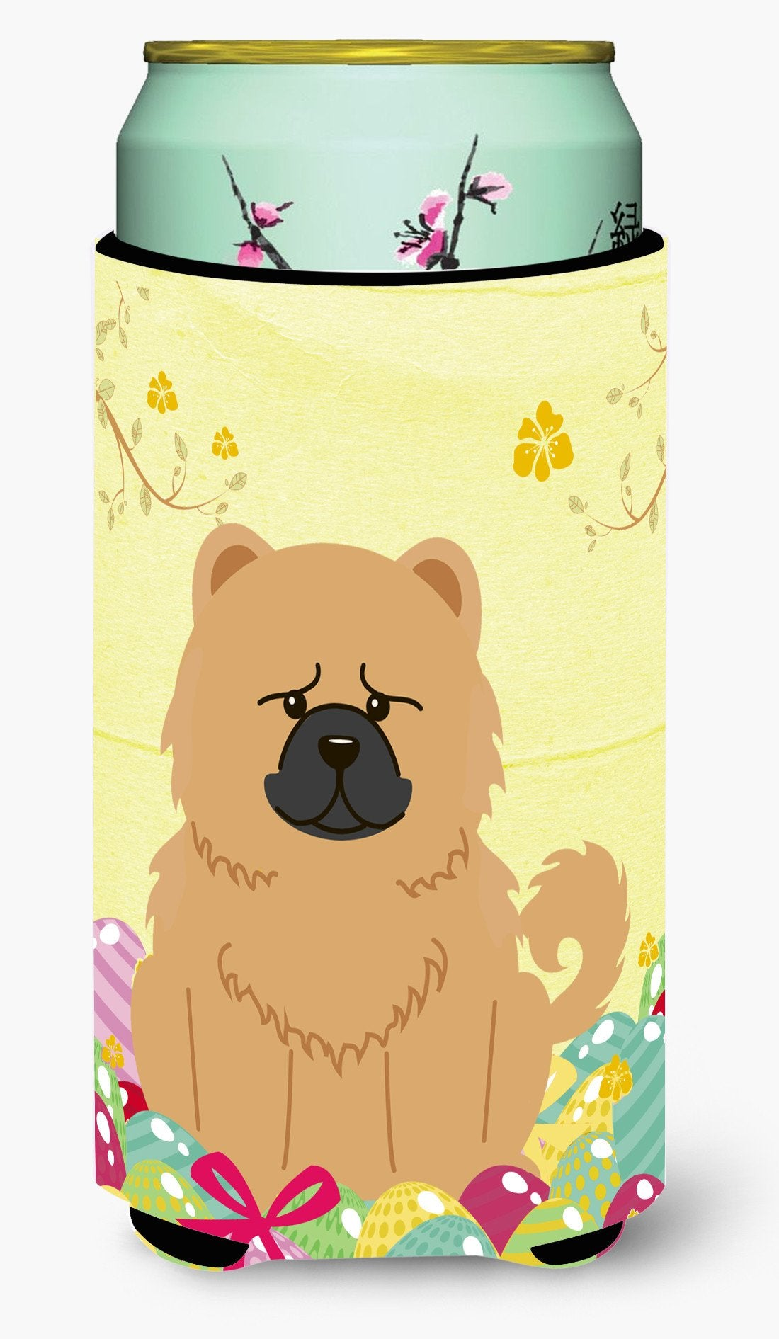 Easter Eggs Chow Chow Cream Tall Boy Beverage Insulator Hugger BB6144TBC by Caroline's Treasures