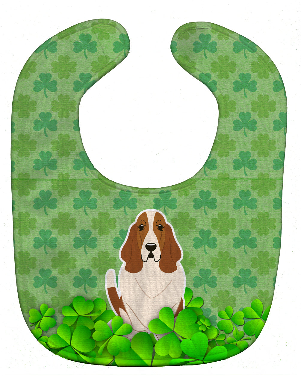 Basset Hound Shamrocks Baby Bib BB6162BIB by Caroline's Treasures