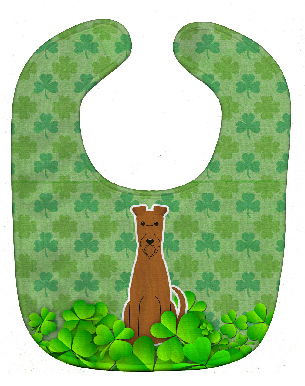 Irish Terrier Shamrocks Baby Bib BB6203BIB by Caroline's Treasures