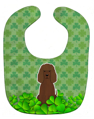 Buy this Irish Water Spaniel Shamrocks Baby Bib BB6204BIB