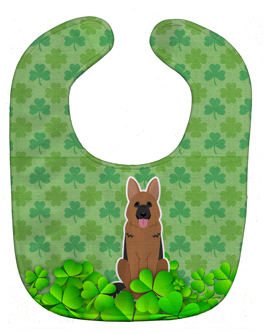 German Shepherd Shamrocks Baby Bib BB6208BIB by Caroline's Treasures