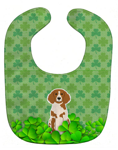 Buy this Brittany Spaniel Shamrocks Baby Bib BB6213BIB