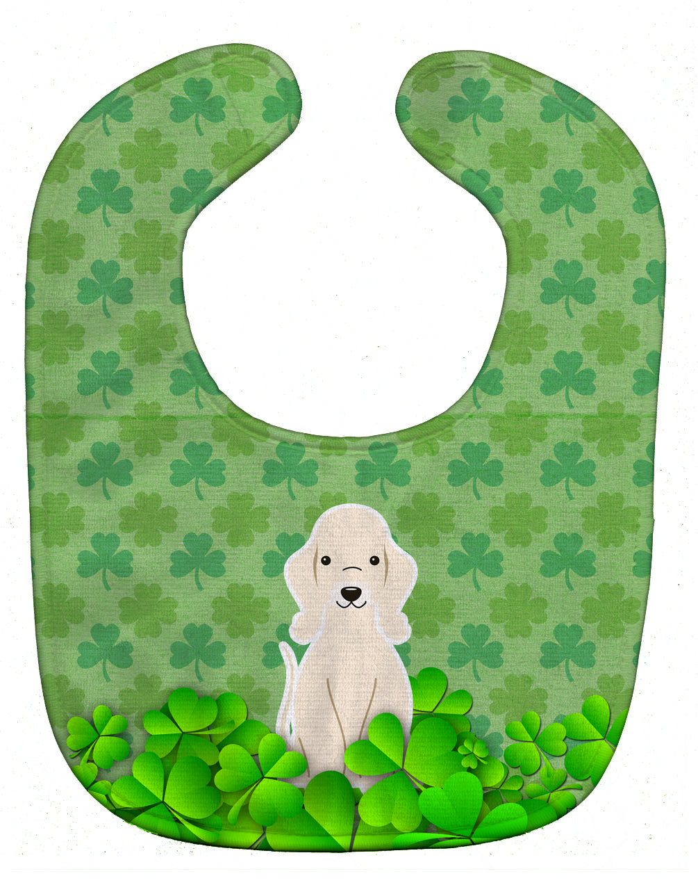 Bedlington Terrier Sandy Shamrocks Baby Bib BB6232BIB by Caroline's Treasures