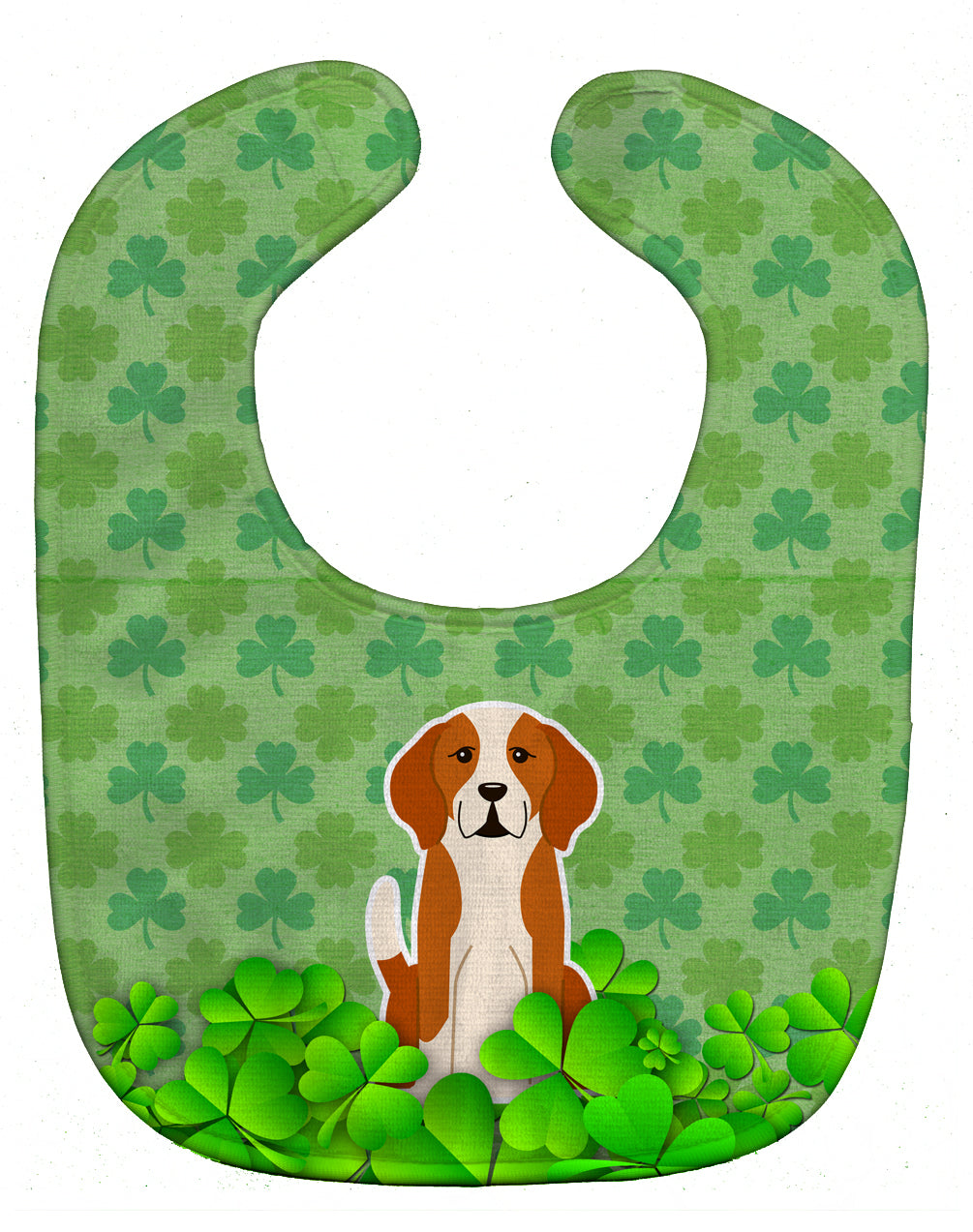 English Foxhound Shamrocks Baby Bib BB6251BIB by Caroline's Treasures