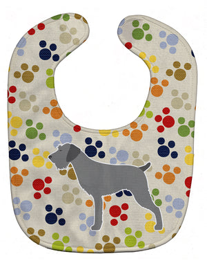 Buy this German Wirehaired Pointer Pawprints Baby Bib BB6316BIB