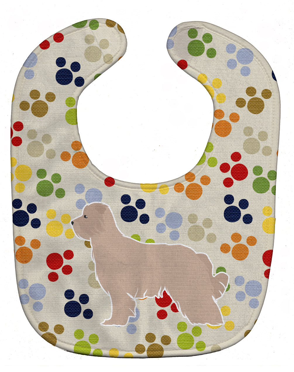 Pyrenean Shepherd Pawprints Baby Bib BB6323BIB by Caroline's Treasures
