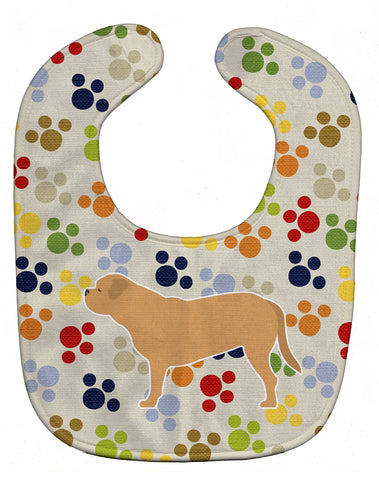 Buy this Dogue de Bordeaux Pawprints Baby Bib BB6375BIB