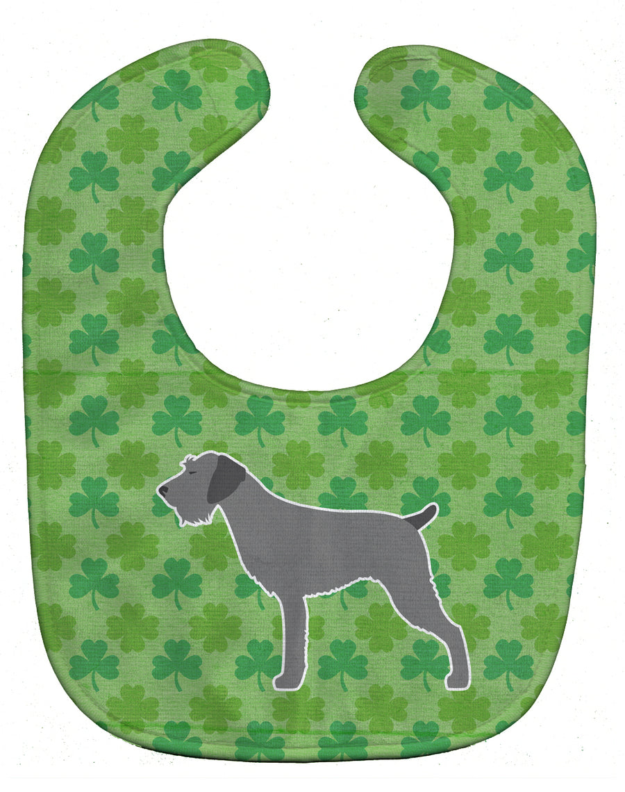 Buy this German Wirehaired Pointer Shamrocks  Baby Bib BB6416BIB