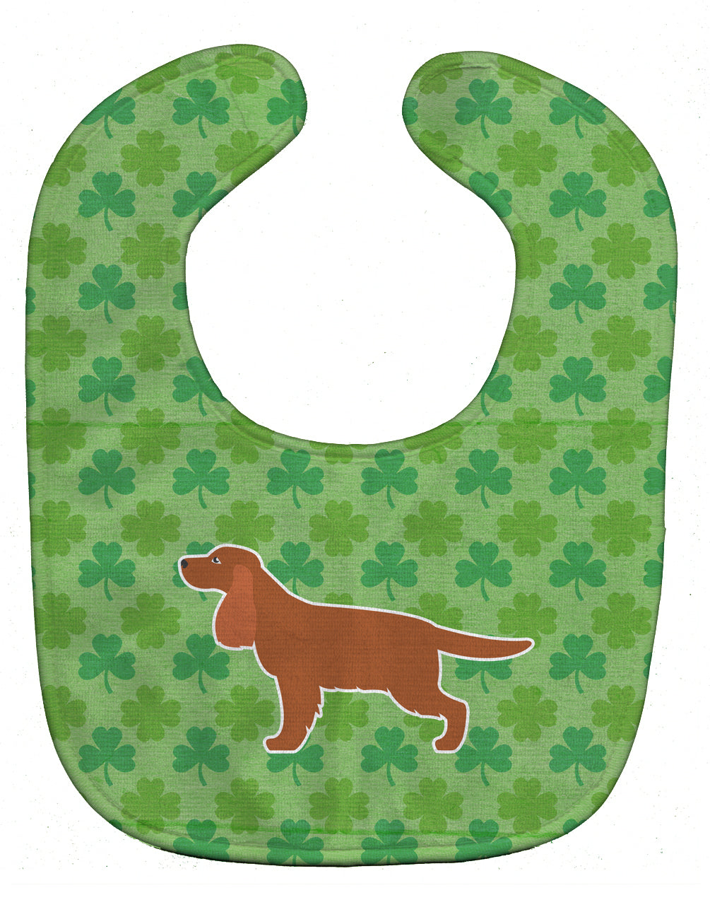 English Cocker Spaniel Shamrocks  Baby Bib BB6417BIB by Caroline's Treasures