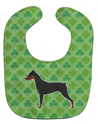Buy this German Pinscher Shamrocks  Baby Bib BB6418BIB