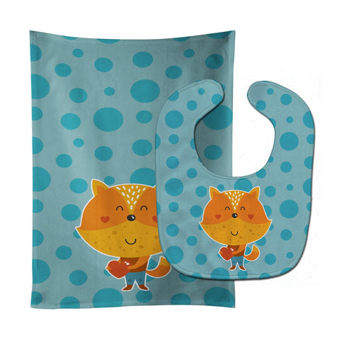 Buy this Polkadot Squirrel Baby Bib & Burp Cloth BB6729STBU