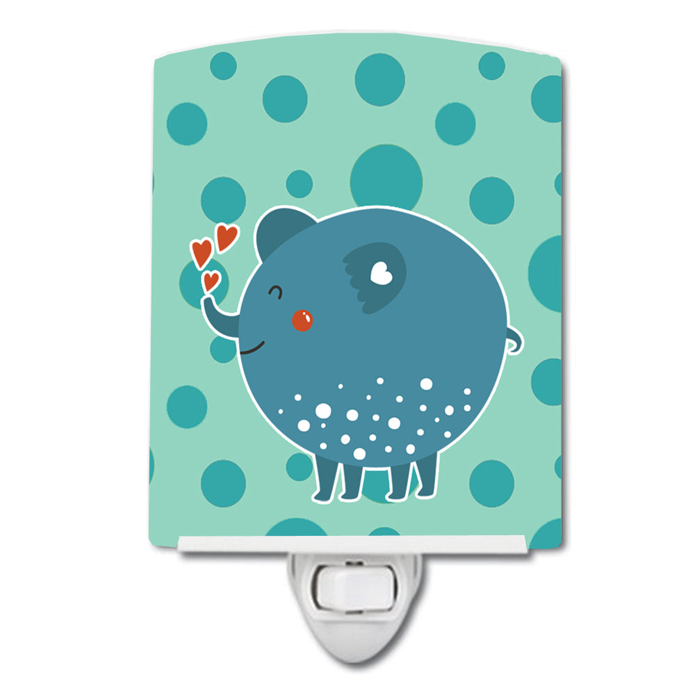 Buy this Blue Elephant Ceramic Night Light BB6733CNL
