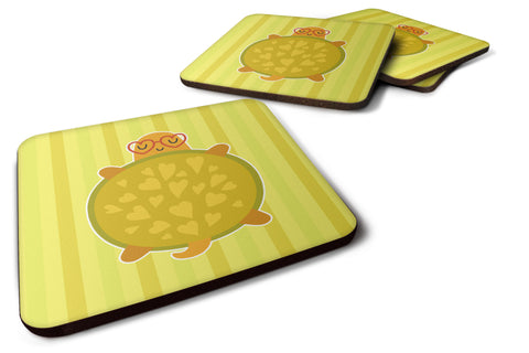 Buy this Turtle with Glasses Foam Coaster Set of 4 BB6736FC