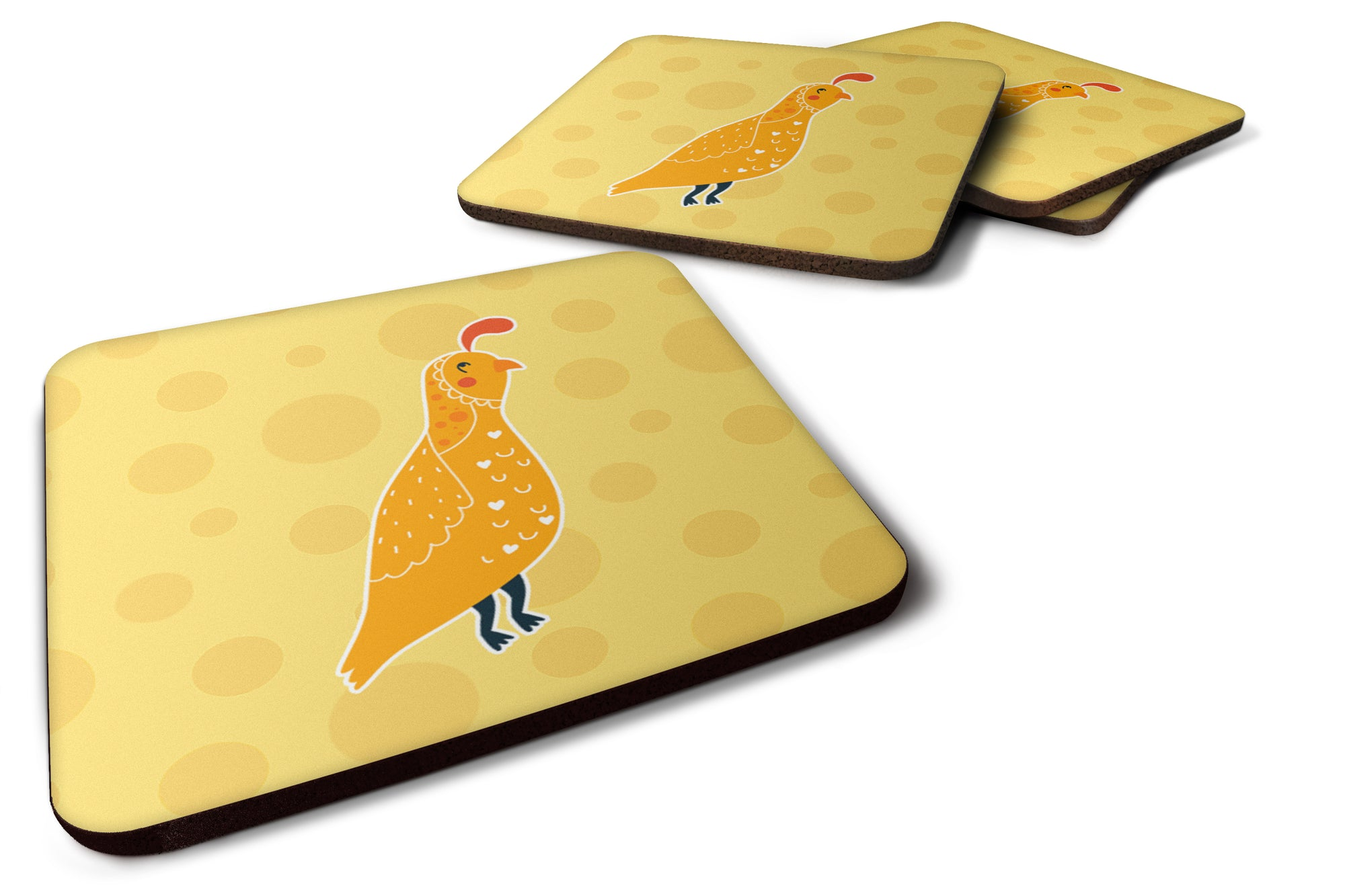 Buy this Partridge in Polkadots Foam Coaster Set of 4 BB6739FC
