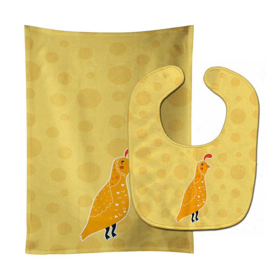 Buy this Partridge in Polkadots Baby Bib & Burp Cloth BB6739STBU