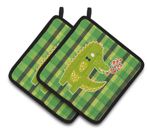Buy this Alligator Love Pair of Pot Holders BB6741PTHD