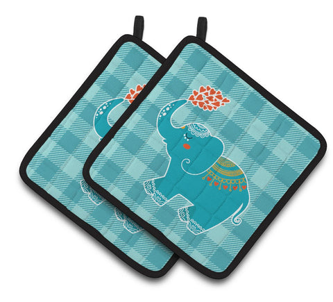 Buy this Elephant Love Pair of Pot Holders BB6744PTHD