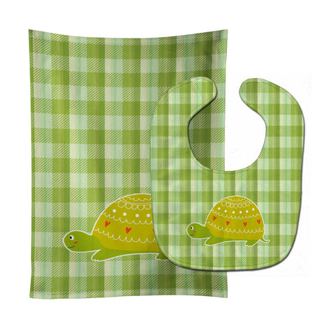 Buy this Turtle on the Move Baby Bib & Burp Cloth BB6750STBU