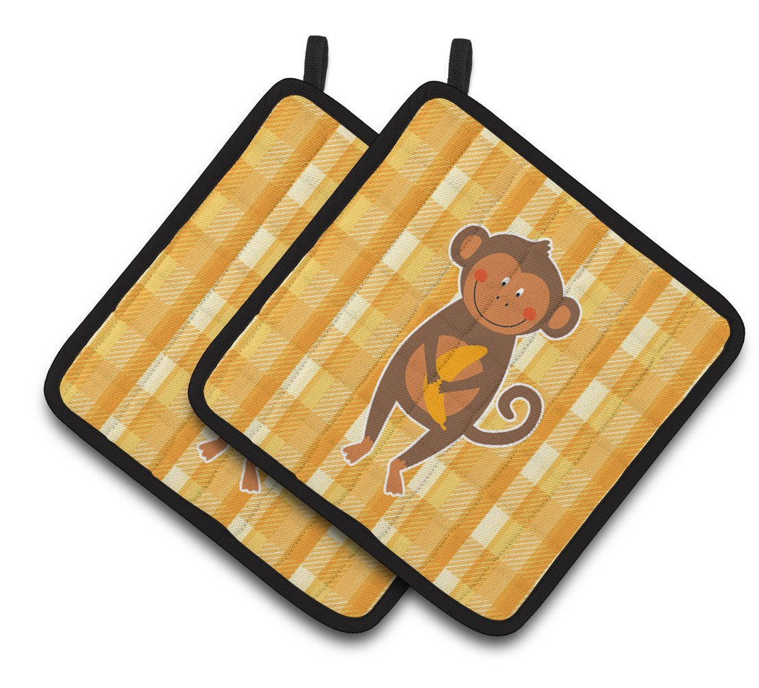 Monkey Business Pair of Pot Holders BB6753PTHD by Caroline's Treasures